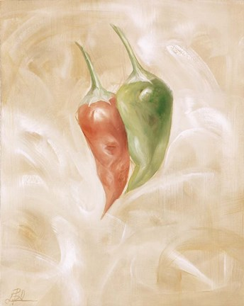 Framed Hot Peppers I Print