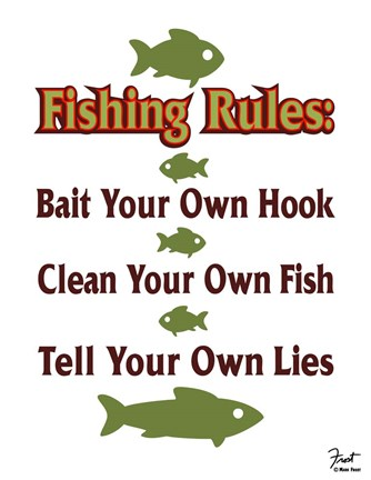 Framed Fishing Rules Print