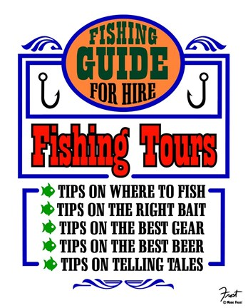 Framed Fishing Tours Print