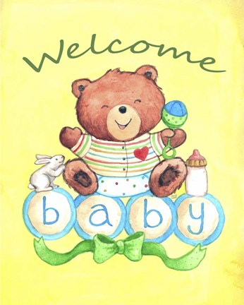 Framed Baby Bear Welcome Print