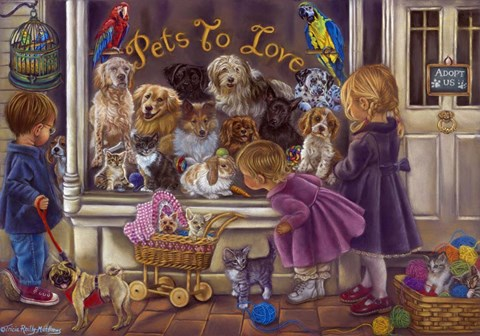 Framed Pets To Love Print