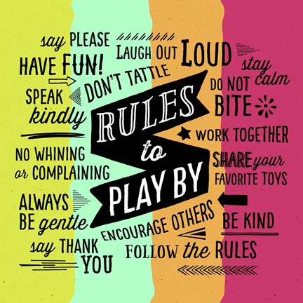 Framed Rules To Play By Print