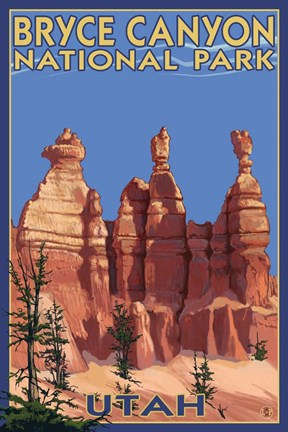 Bryce Canyon Summer Fine Art Print By Lantern Press At