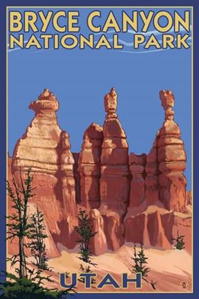 Bryce Canyon Summer Fine Art Print By Lantern Press At