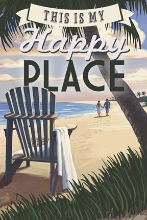 Framed Happy Place Print
