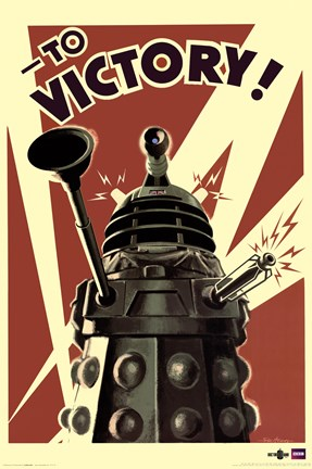 Framed Doctor Who - Dalek To Victory Print