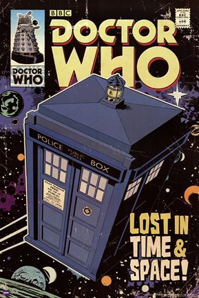 Framed Doctor Who - Tardis Comic - Lost In Time And Space Print