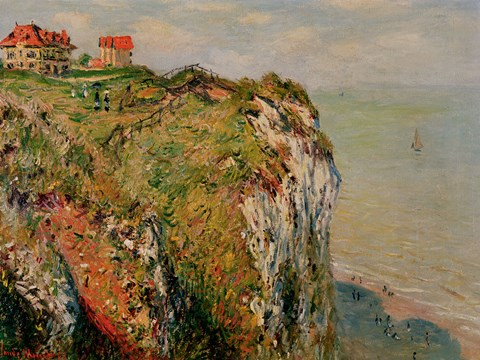Framed Cliff at Dieppe, 1882 Print