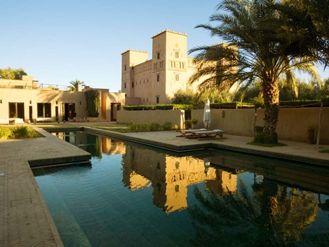 Framed Dar Ahlam Kasbah a Relais and Chateaux Hotel, Souss-Massa-Draa, Morocco Print