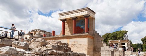 Framed Minoan Palace, Knossos, Iraklion, Crete, Greece Print