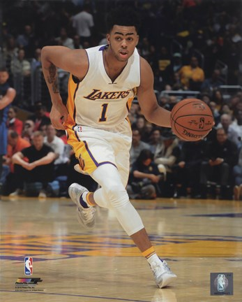 Framed D'Angelo Russell 2015-16 Action Print