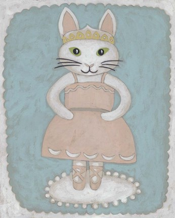 Framed Ballerina Animal II Print