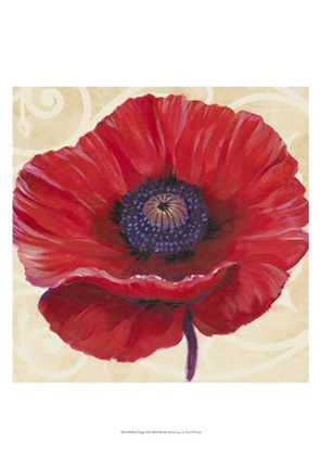 Framed Red Poppy II Print