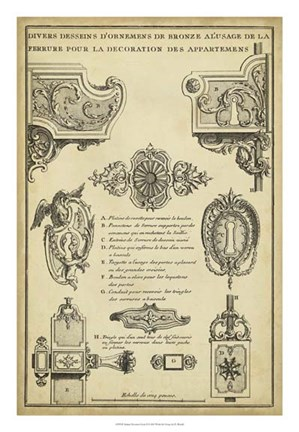 Framed Antique Decorative Locks II Print