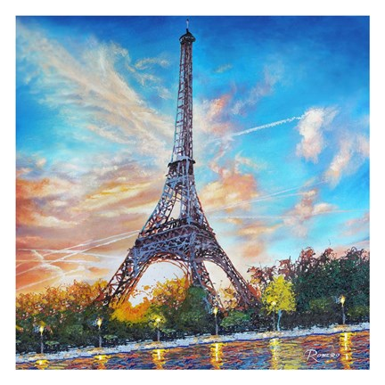 Framed Paris Single Canvas Print
