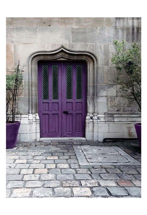 Framed Purple Door 4 Print
