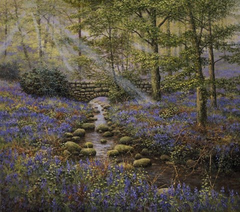 Framed Bluebell Bridge Print