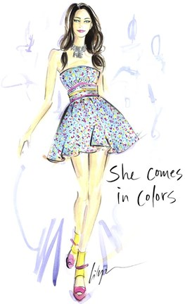 Framed She Comes In Colors Print