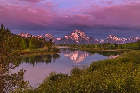Framed Magenta Sunrise  Oxbow Bend Print