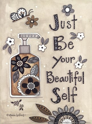 Framed Just Be Your Beautiful Self Print