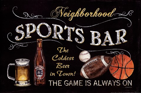 Framed Sports Bar Print