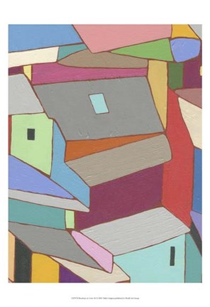 Framed Rooftops in Color XI Print