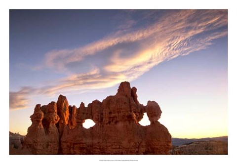 Framed Clouds at Bryce Canyon Print