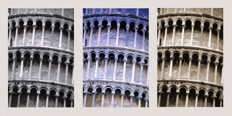 Framed Different Color Exposures of Colleseum Print