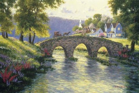 Old Stone Bridge Fine Art Print By Randy Van Beek At