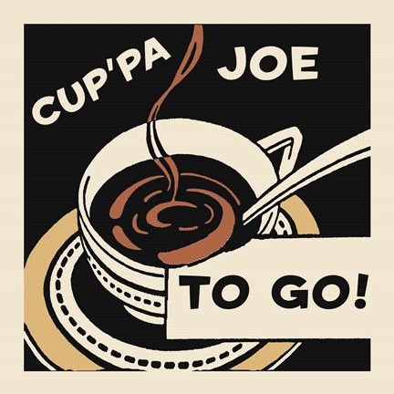 Framed Cup'Pa Joe To Go Print