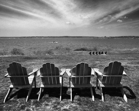 Framed Four Chairs, Newport, Rhode Island 03 Print