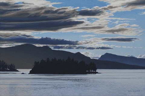 Framed Gulf Islands Evening Print