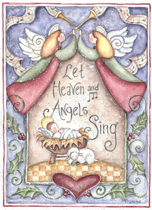 Framed Let Heaven and Angels Sing Print