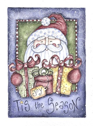 Framed Tis the Season Santa Print