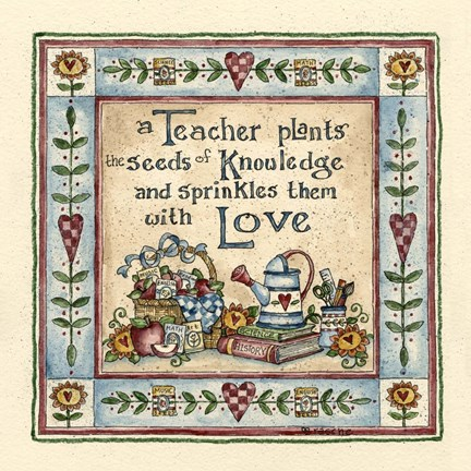 Framed Seeds Of Knowledge Print