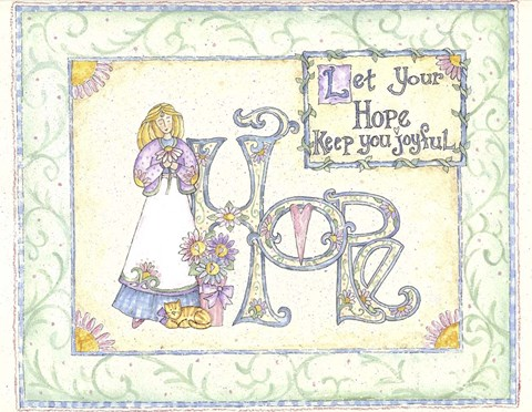 Framed Let Your Hope Keep You Joyful Print