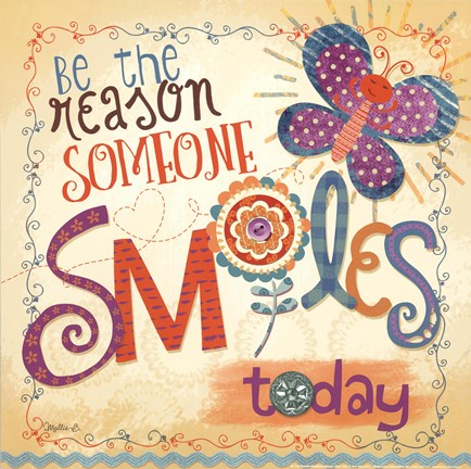 Framed Be The Reason Someone Smiles Print
