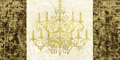 Framed Chandelier Royale Print