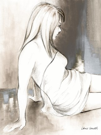 Framed Sketched Waking Woman II Print