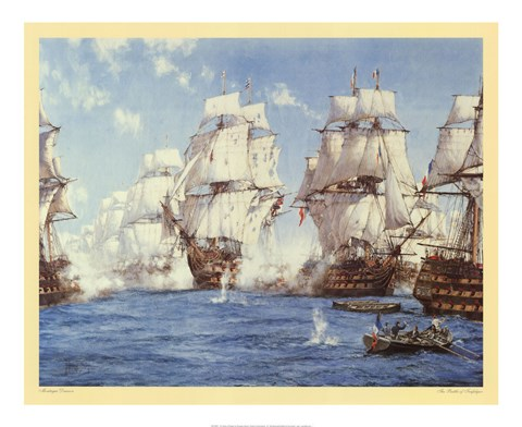 Framed Battle of Trafalgar Print