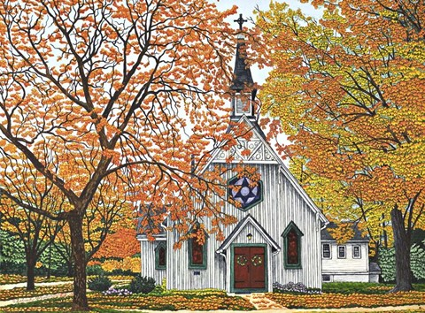 Country Church Western Ny Fine Art Print By Thelma Winter