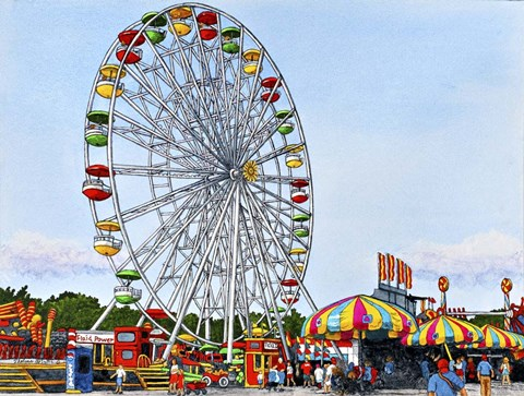 Ferris Wheel Erie County Fair Hamburg Ny Fine Art Print
