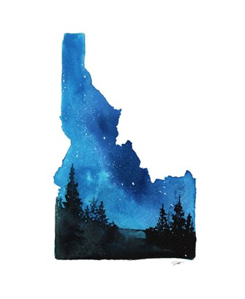 Idaho State Watercolor Fine Art Print By Jessica Durrant