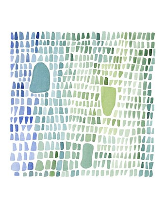 Framed Series Sea Glass No. 1 Print