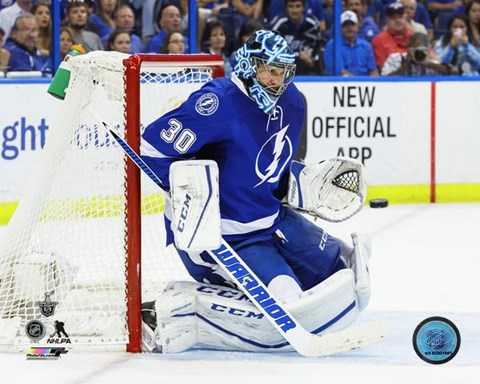 Framed Ben Bishop 2016 Stanley Cup Playoffs Action Print