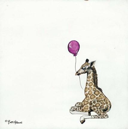 Framed nursery giraffe print
