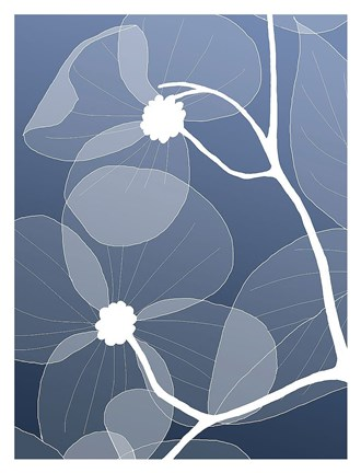 Framed Floral Silhouette 2 Print