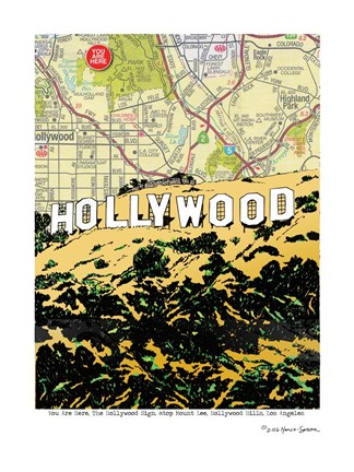 Framed Hollywood Sign Print