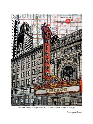 Framed Chicago Theatre Print