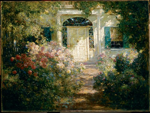 Doorway And Garden Fine Art Print By Abbott Fuller Graves